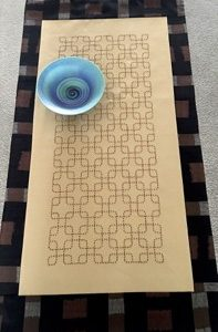Linked Chain Table Runner Panel