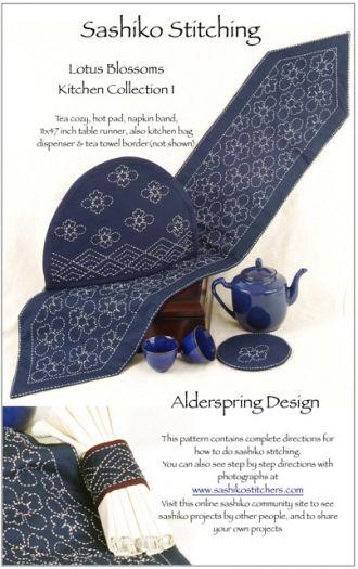 Sashiko Pattern Package - Lotus Kitchen Collection 09