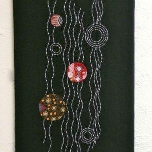 threaded pathways sashiko panel