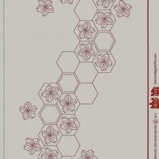 Cherry Blossoms in Hexagons