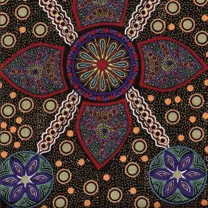black stella aboriginal cotton fabric