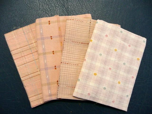 pink taupe pre cut yarn dyed fabrics