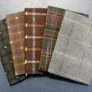 dark taupe pre cut yarn dyed fabrics