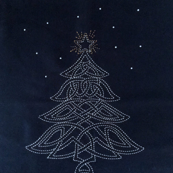 sashiko christmas tree