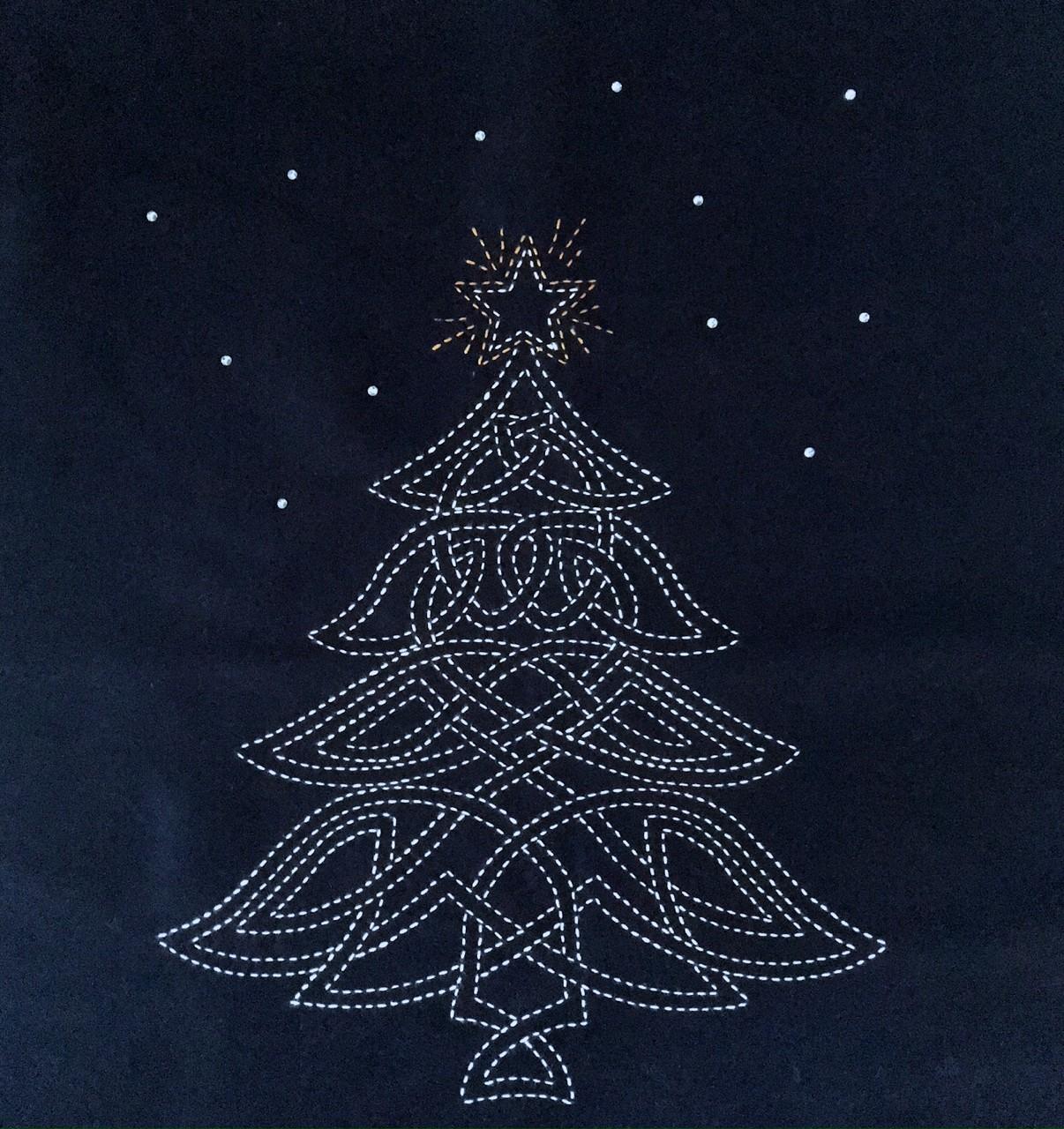 sashiko christmas tree