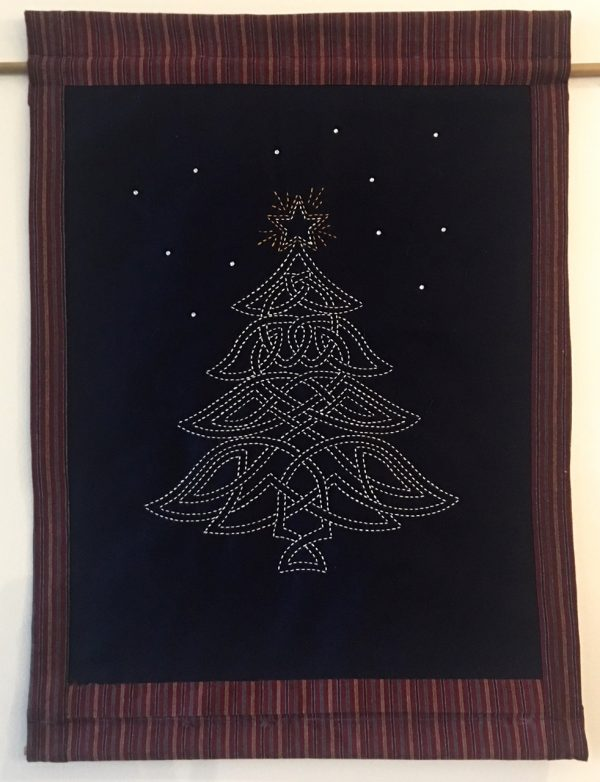 sashiko celtic christmas tree