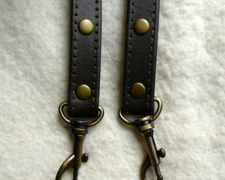 Bag Strap Set - 16mm Stitched Leather