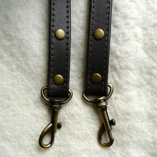 Bag Strap Set - 16mm Stitched Leather