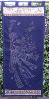 Spring Butterfly Sashiko Panel