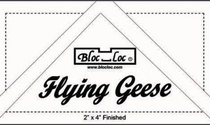 "Bloc Loc - Flying Geese Square Up Ruler 2"" x 4"""