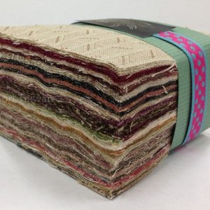 Yarn Dyed 7cm square Charm Pack Light