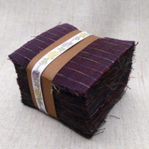 Yarn Dyed 7 cm square charm squares darks