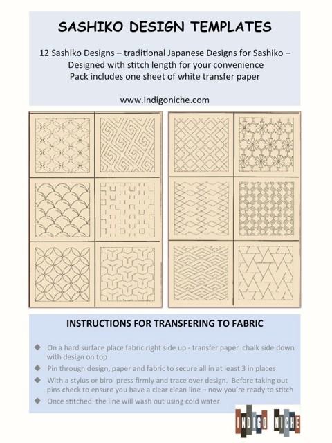 Sashiko Design Templates