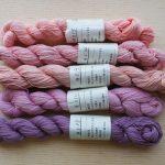 pink natural dyed sashiko thread