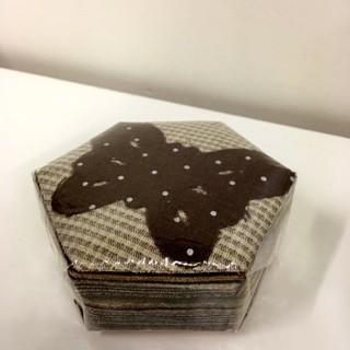 K020-F Fabric Hexagons 5.3cm - 100 pcs