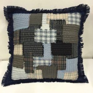 Boro Throw Cushion Kit Blue