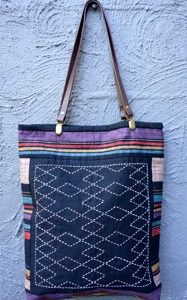 Sashiko Panel Tote Bag No. 2