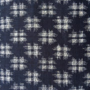 F.Woven Cross Hatch Indigo