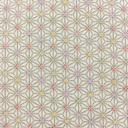 Japanese Hemp Print Fabric Cream