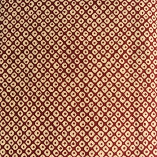 Japanese Shibori Print Fabric Red