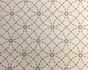 Stencilled Sashiko Fabric - Seven Treasures  - Ecru