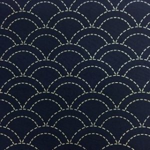 Seigaiha Pre-Stencilled Fabric - Blue