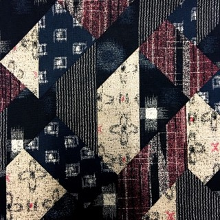 Japanese Patchwork Fabric Red