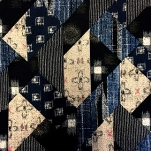 Japanese Patchwork Fabric Blue