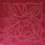 celtic leaf dawn sashiko design