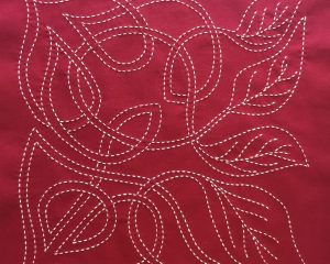 sashiko panel celtic leaf