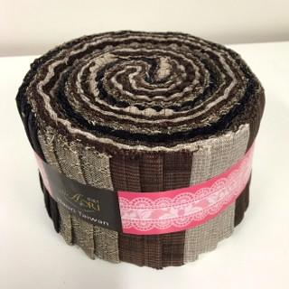 K051-4 Yarn Dyed Rolls No 4 Chocolate JR