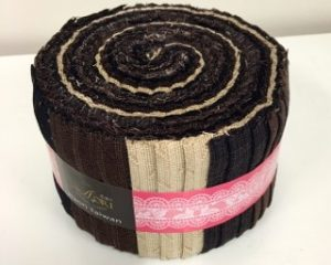 chocolate coloured yarn dyed jelly roll