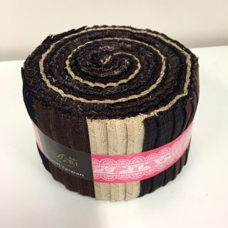 K051-6 Yarn Dyed Rolls No 6 Chocolate JR