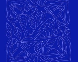 celtic leaves sashiko pattern