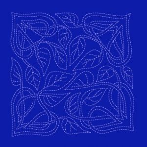 Sashiko Celtic Leaves