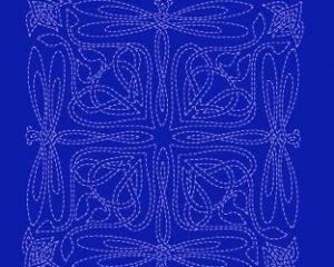 celtic dragonfly sashiko panel