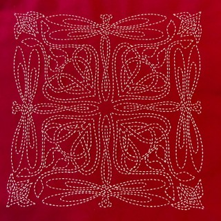 Sashiko Celtic Dragonflies