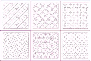Sashiko Design Templates No. 2