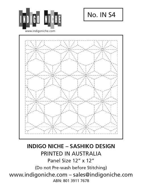 Sashiko Sampler - Hemp Leaf (Asanoha) with Hexagons