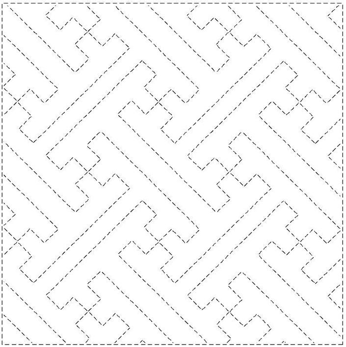 hishi sayagata sashiko pattern