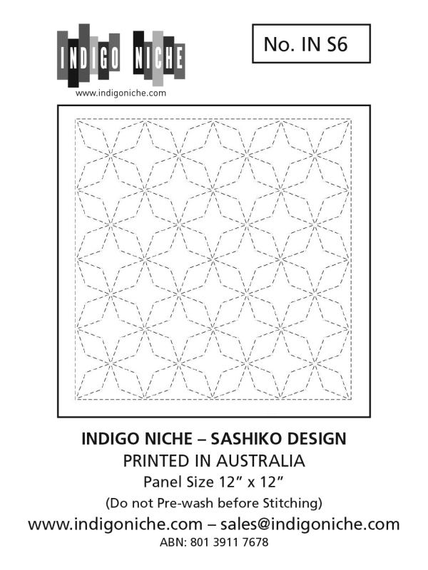 Sashiko Sampler - Angled Seven Treasures