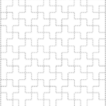 linked ten crosses sashiko