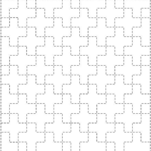 linked ten crosses sashiko pattern