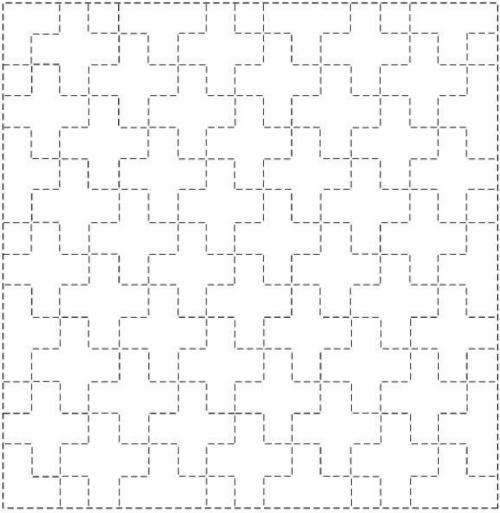Sashiko Sampler - Linked Ten Crosses (Jujitsunagi)