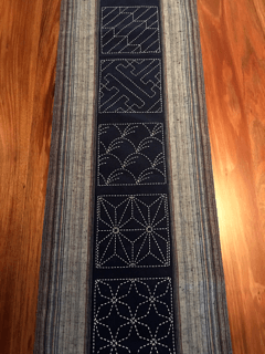 Times Two Sashiko Table Runner Kit