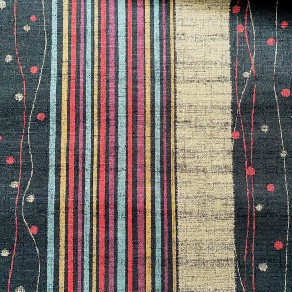 striped spotted dobby weave japanese fabric black