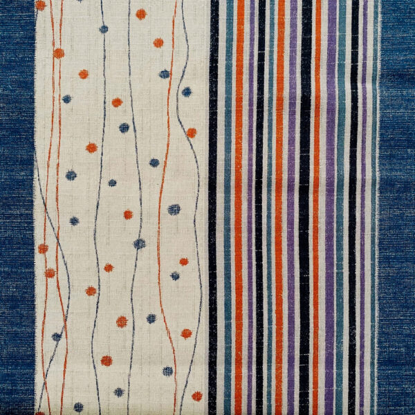 spotted striped japanese dobby weave fabric blue