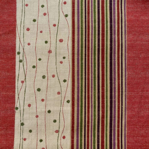 spotted striped dobby weave japanese fabric red