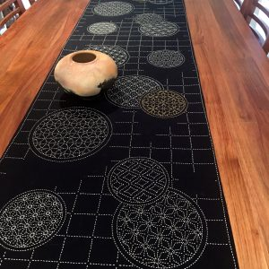 temari sashiko table runner
