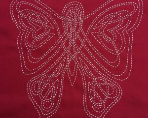 sashiko panel celtic butterfly